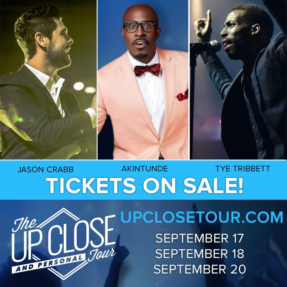 Hey yall, the COUNTDOWN IS ON! I Join my BROS @JasonCrabbMusic @TyeTribbett  Up Close & Personal Tour #UpCloseTour http://t.co/de3QgobSdI
