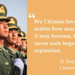 """""""We Chinese love peace."""" President #XiJinping said while announcing Chinas 300,000 TROOPS CUT before #VDay parade http://t.co/dsjCG7KVTt"""