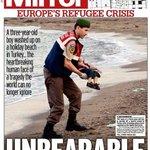 صور.. الصفحات الأولى لكبرى الصحف البريطانية صباح اليوم. #اللاجئين #سوريا #غرق_طفل_سوري - http://t.co/HVWuCEkEMj