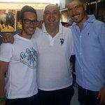 Agus ya está en el vestuario del Alba. Aquí le vemos con Juanky y David García http://t.co/u8TH2etvNm