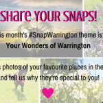 Get involved with this months #SnapWarrington campaign. Wheres your favourite place in Warrington? http://t.co/aGJaLJ5mIS