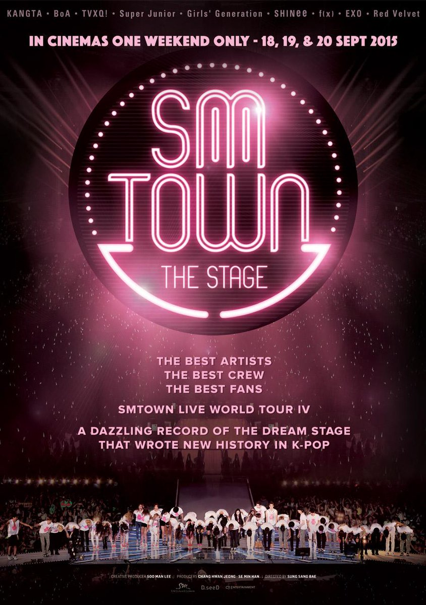 SMTOWN THE STAGE Indonesia official poster. limited show only in cinemas 18,19,20 Sept 2015 #SMTOWNTHESTAGEinCinema http://t.co/LUN1ywljWG