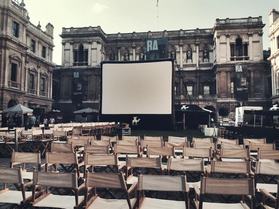 Our screen is up for the first event of six at the prestigious @royalacademy for Casablanca tonight #nomad15 #excited http://t.co/zLIIdfAiT4