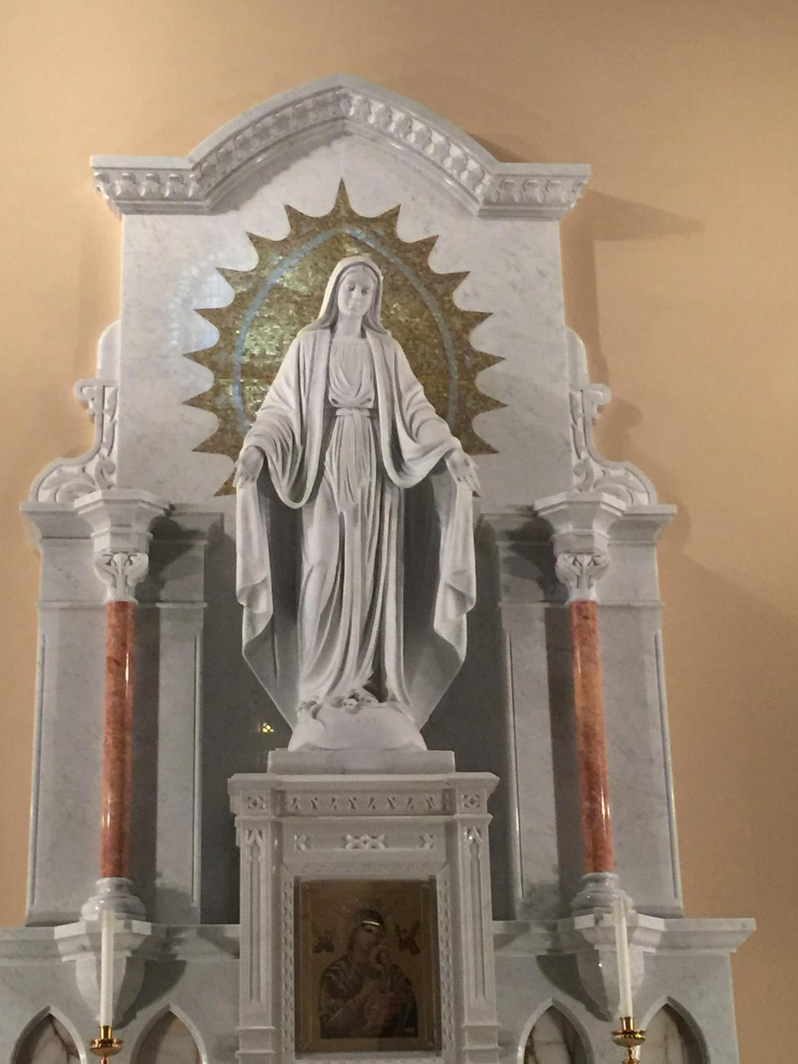Mary humbles herself always. #homilytweet http://t.co/taaDX8RlKe