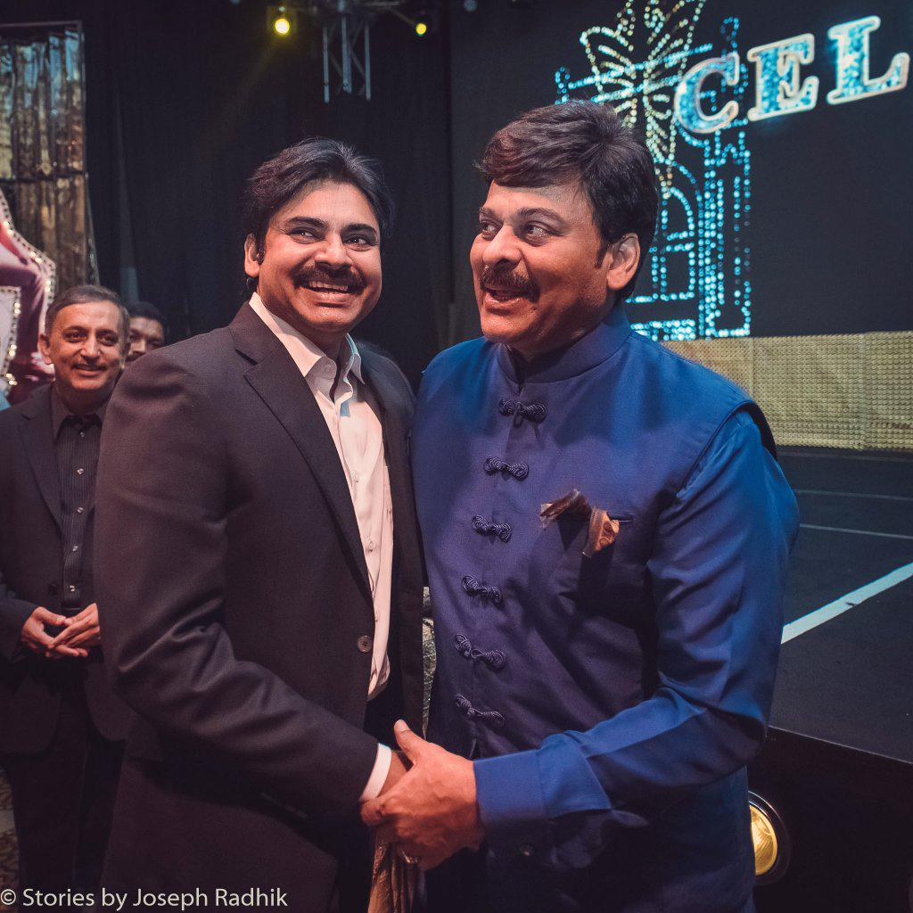 Since so many of you have asked, and you'll see this in the press anyway, here's Chiru sir and Pawan Kalyan. #Mega60 http://t.co/9txQgZT1wY