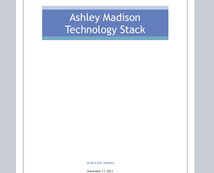 Apparently Ashley Madison devs were not very happy with the technical debt of site. http://t.co/OYA9IZLVdt