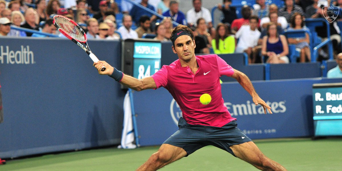 Federer back in #CincyTennis final 7th time w/64 76(6) win over Murray. He sets up blockbuster w/World No1 Djokovic. http://t.co/9xSUkMw1jP