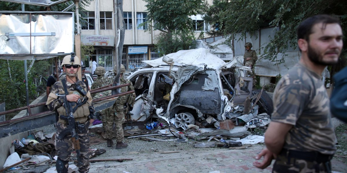 Car bombing in Afghanistan kills at least 12 including 3 Americans http://t.co/nV2JJ1UD6a http://t.co/PGI3zyhd7k