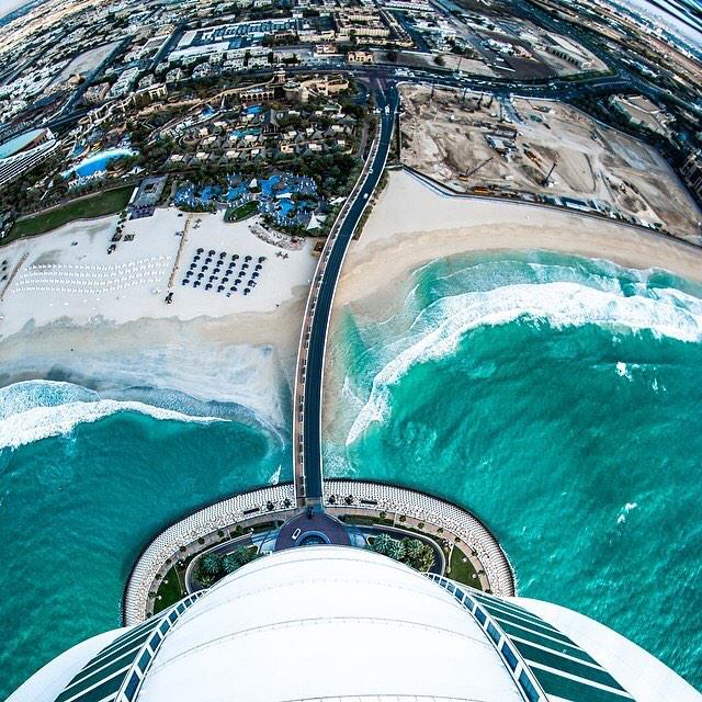 See the world from another angle... Shot by @ahmed_ateej #BurjAlArab #Dubai #PhotoOfTheDay http://t.co/iuerGyKqND