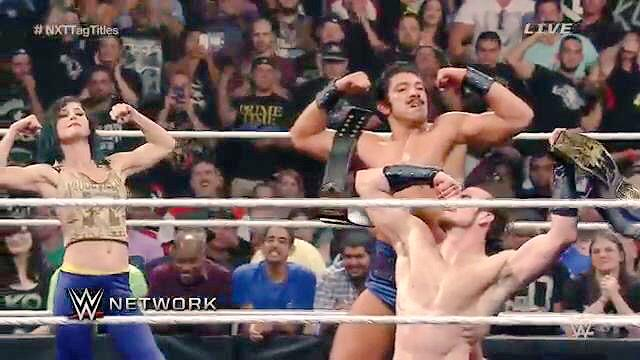 I was very honored to lend these fine gentlemen a helping hand & flexed bicep in Brooklyn last night for #NXTTakeOver http://t.co/YiC5FtLzo0