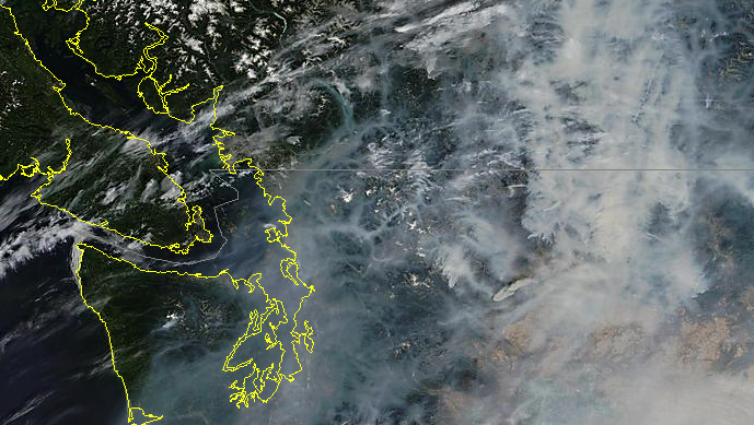 widespread #smoke in BC Southern Interior as seen on satellite http://t.co/p88vt29hoB