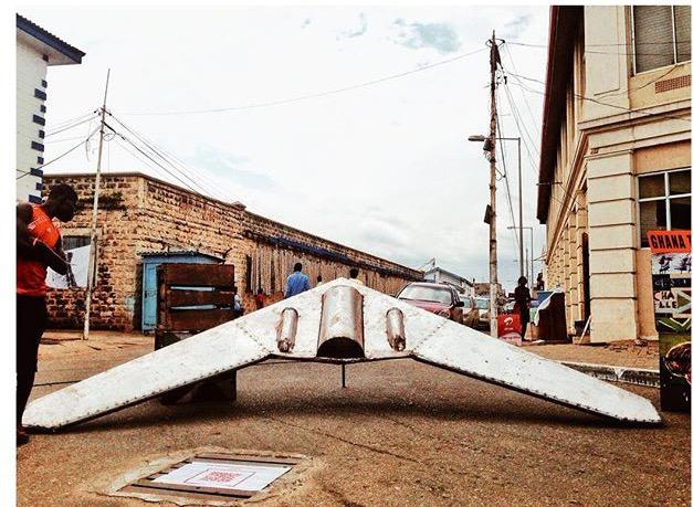 #ICYMI My installation at #ChaleWote2015 : The Drone Scrap Program 2054.  Photo Credit: Josh Tackie & @kobebigs http://t.co/o9oI8Dp1QH