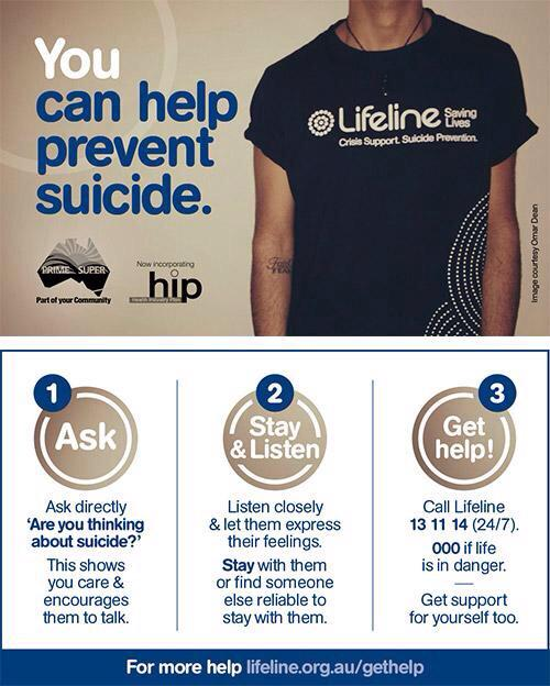 You can help prevent suicide - please share this 3-step resource @AustralianStory #suicideprevention #gethelp #hope http://t.co/wXZ5hsHWIC