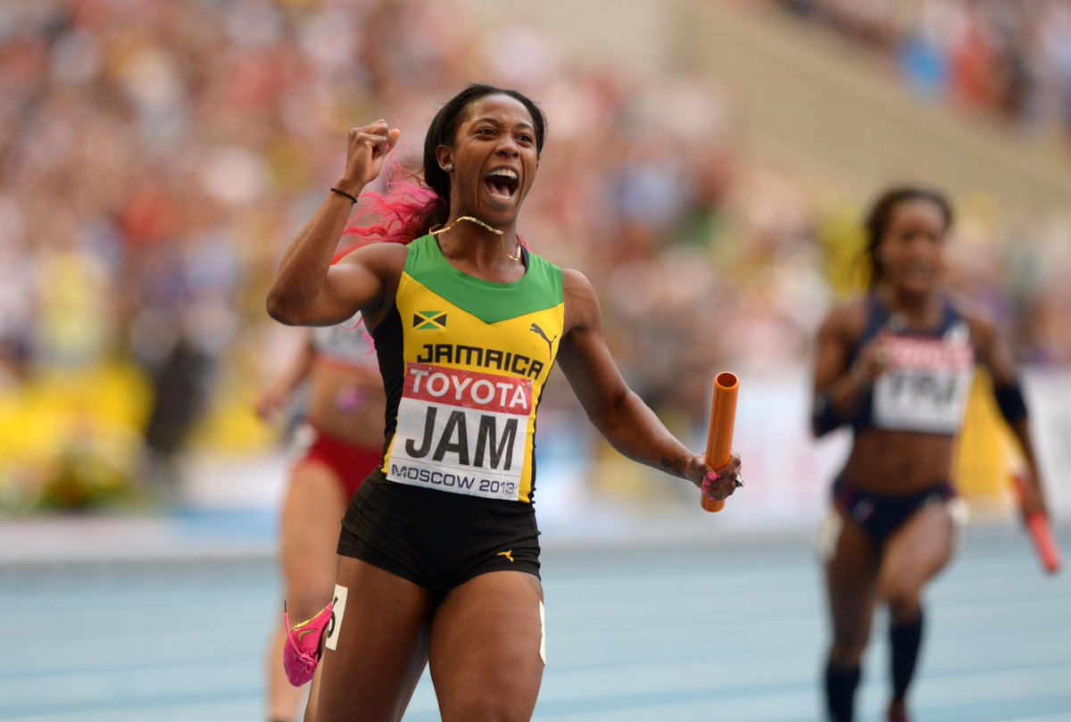 Our #UTech Ambassador @realshellyannfp has done it again! #Gold #WorldChampion http://t.co/UXU6Eu1p8G