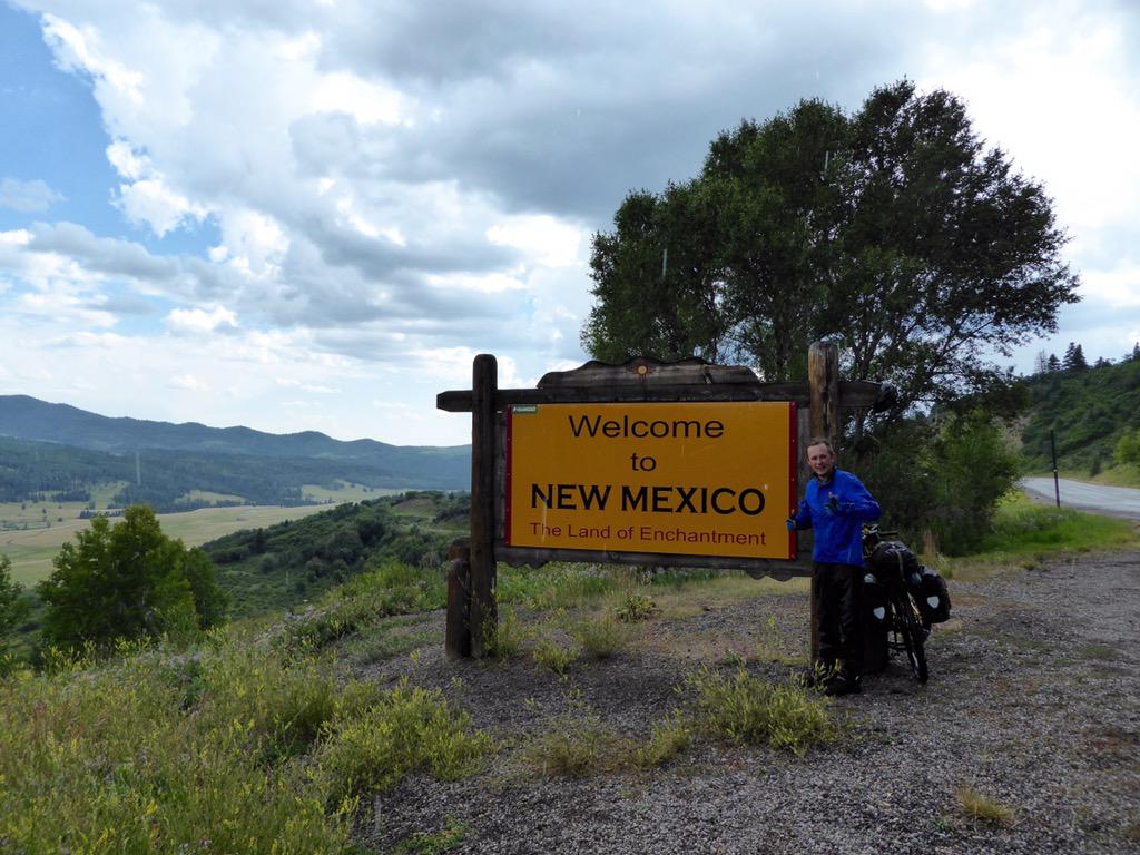 We are in New Mexico! On the paved road alternative to avoid the