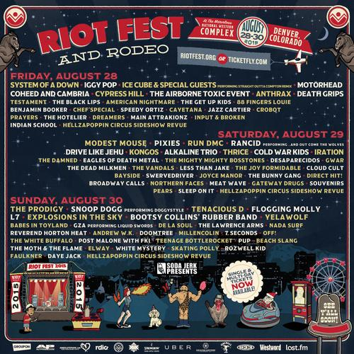 Need tix to @RiotFest? We can help! RT and tag the person you want to bring & you may win tix! You've got 24 hrs. http://t.co/hS12QyGnjk
