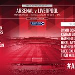 Here is your #Arsenal team for #AFCvLFC http://t.co/44tqqQ1UrY