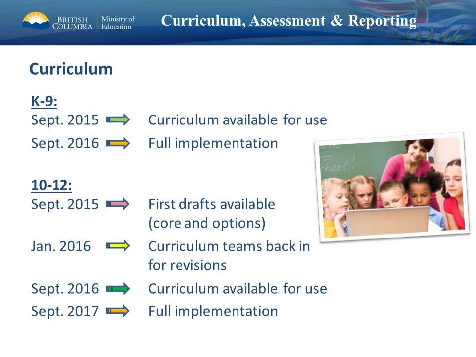 We now have the clear timelines from Ministry on new curriculum #bced #sd45pln http://t.co/mF3dssesu2