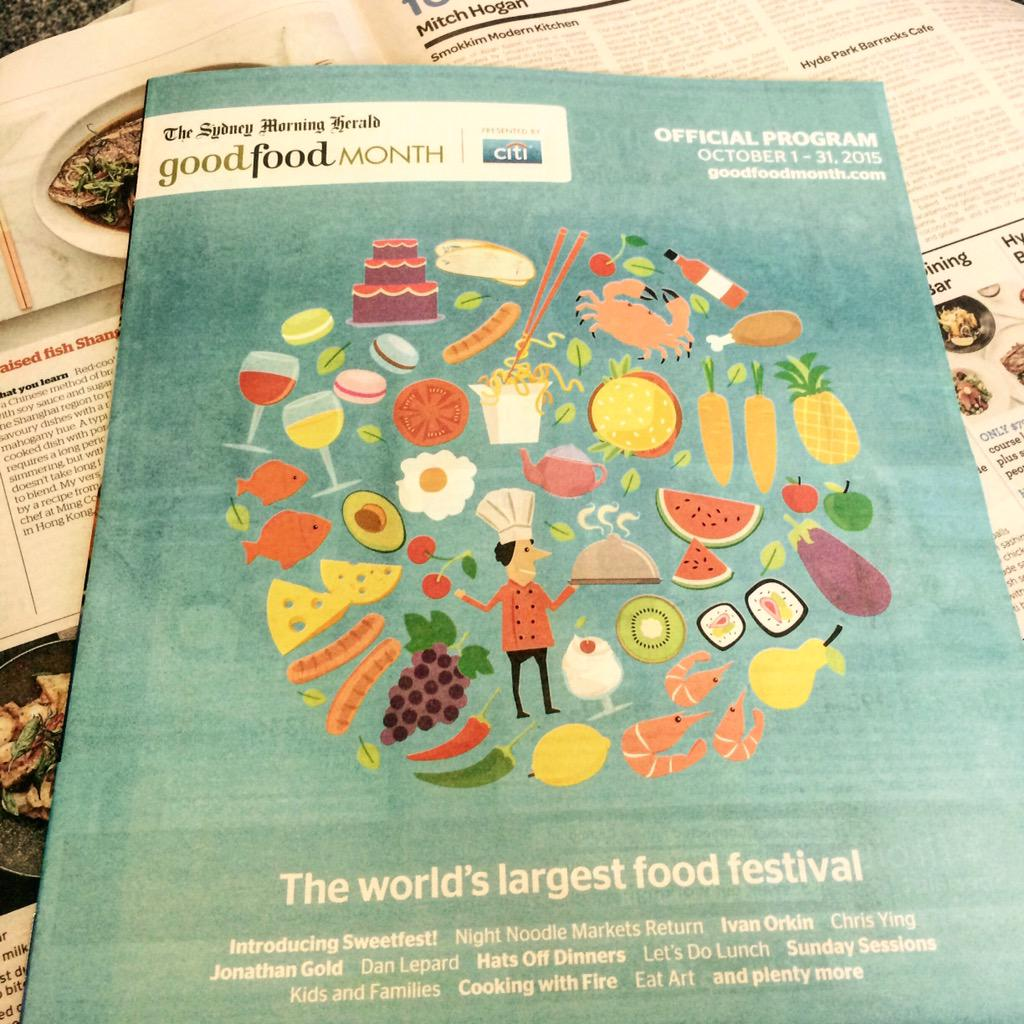 2015 @smh Good Food Month presented by @Citi Program is out now! Pick up your FREE program in the SMH #jointhefeast http://t.co/tzsxgDQjWo