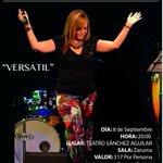 Sept. 8, Ma. de Lourdes García en CONCIERTO! Por fin... #Guayaquil. @TeatroSanchezA http://t.co/cmM5xtogZT