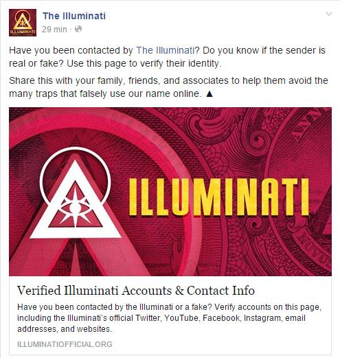 Have you been contacted by @ILLUMINATIAM Do you know if the sender is real or fake? Check it: https://t.co/ZG9sz4iul7 http://t.co/sVlq2OB6Yl