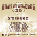 News; Pengumuman Jadwal & Venue Rock In Celebes Festival Tour 2015! Selengkapnya: http://t.co/YtUFxs3hRE #RICfest2015 http://t.co/4L7XIoOM27