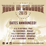 Jadwal & Venue Rock In Celebes Festival Tour 2015! Sdh keluar. Selengkapnya http://t.co/A2bYeAzLV1 #RICfest2015 http://t.co/YEjK0hfGMw