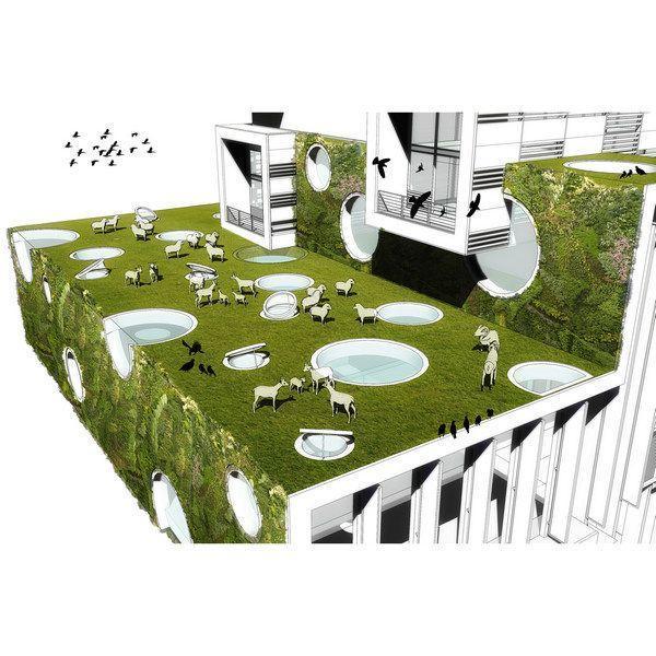 Met dit soort ontwerpen krijgen we de schaapjes vanzelf op het droge - #duurzaam/#groenedaken @OSGroningen @GMJD030 http://t.co/85qNicRcoV