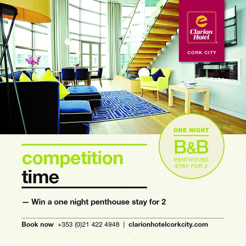 #COMPETITION TIME: fancy a penthouse stay with us? Here's your chance. RT and follow to #WIN #clarioncorkpenthouse http://t.co/ttAjJN4Bsv