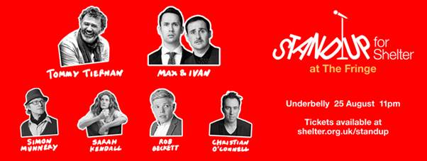TONIGHT! A bunch of legends are Standing up for @Shelter: http://t.co/22zkdb9ZC8 (…we're sketching up) http://t.co/oRSF1wHwk6