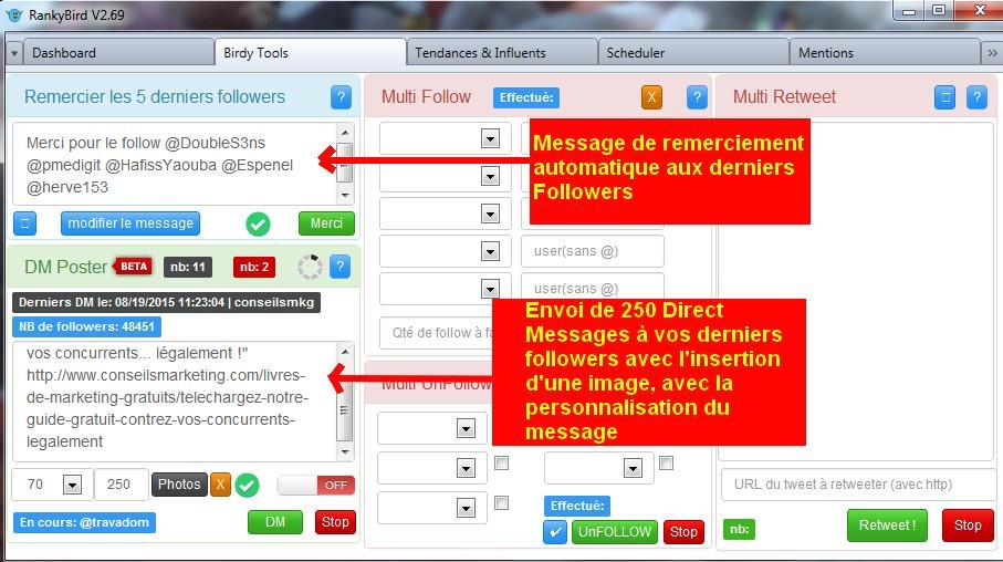 Enfin un remplaçant français pour TweetAdder, TweetAttacks… RankyBird pour automatiser… http://t.co/YzEkIBk43i http://t.co/HlNk3Zti9w