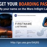RT @NASAedu: Join NASA's #JourneyToMars! Send your name to the Red Planet with the @NASAInSight mission! http://t.co/Uh2nro5wS3