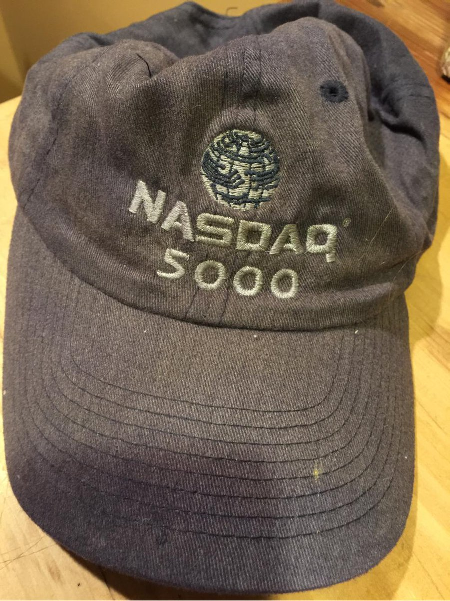 Looks like my old hat from 1999 is still a collectors item. @Nasdaq #dontpanic http://t.co/Jan6U1uvQ4