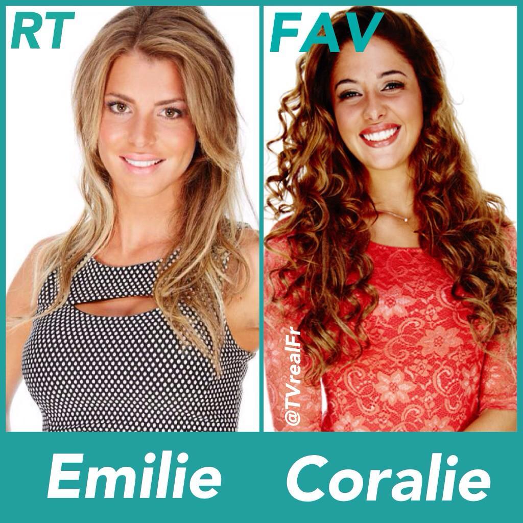 #SS9 Qui préfére tu ? RT pour Émilie FAV pour Coralie ! #TeamEmilie #TeamCoralie ! http://t.co/WsgbrFGeuN