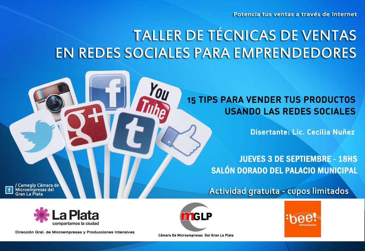 Taller de Técnicas de ventas en redes sociales para #Emprendedores  Jueves 5/09 -18 hs #LaPlata, dictado por @ceciuy http://t.co/O6XwwoHKbX