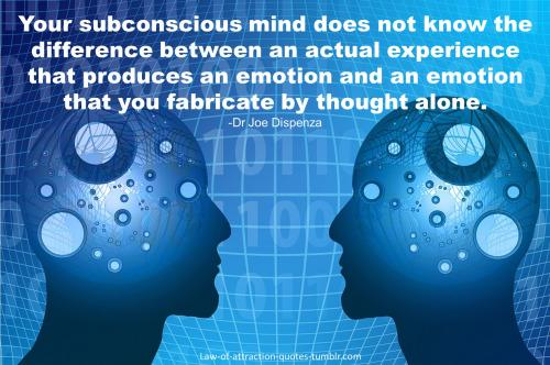 Subconscious regulates over 97% of actions & does not know difference between real or imagined. http://t.co/b7uIVa3cok