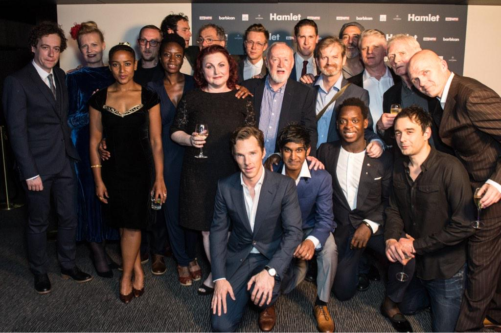 Congratulations to the cast and company of #hamletbarbican! @SFP_London http://t.co/YZJOMF4sQJ