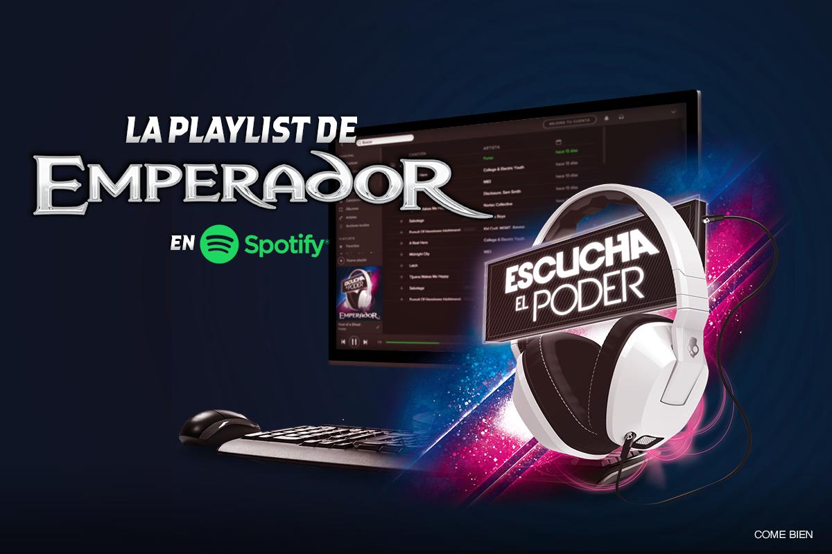 ¡Emperador trae para ti todo el poder de la música! Síguenos en Spotify aquí: --> http://t.co/I4yR6xo1QJ http://t.co/Tz4ZQ6cz1q