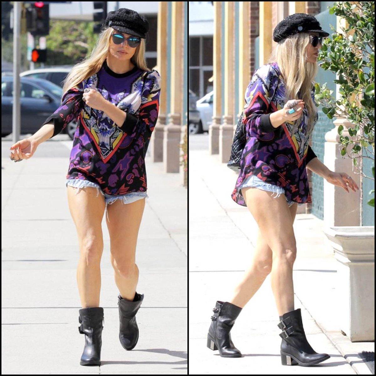 RT @FergieFootwear: 8/18 @Fergie wearing WISTFUL #boots going 2 to a #recordingstudio in #SantaMonica. #blackboots http://t.co/hFQT90zRrR h…