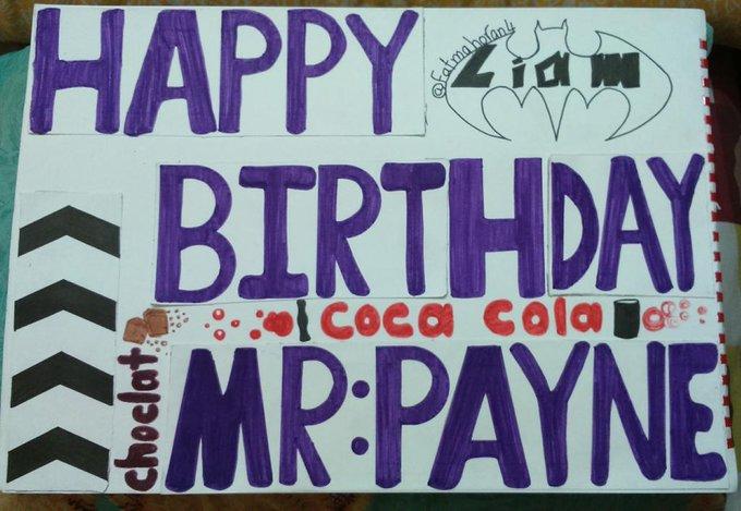 Hi Liam. I made this art for your birthday. Happy Birthday Mr.Payne.I hope u like it.I love so much