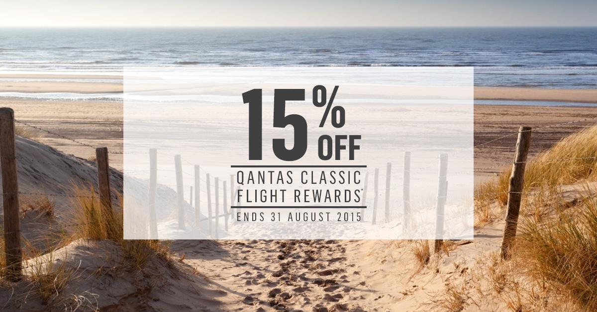Quick tix! You've got 3 days to book with your QantasPoints and get 15% off. T&Cs apply