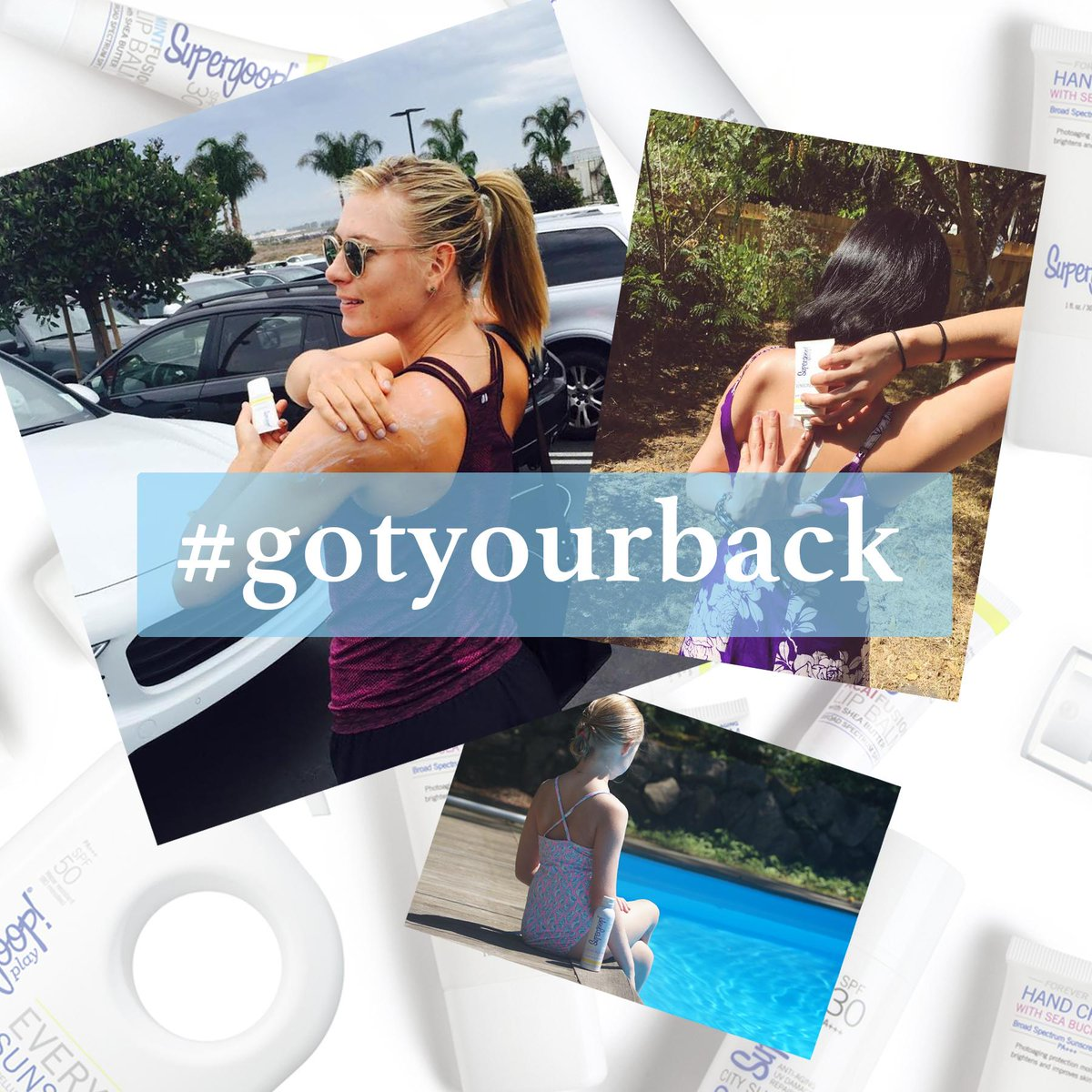 Show me how you #GotYourBack tag @Supergoop  for a chance to win a prize full of signed gear and suncare! http://t.co/s2jYiLXjJy