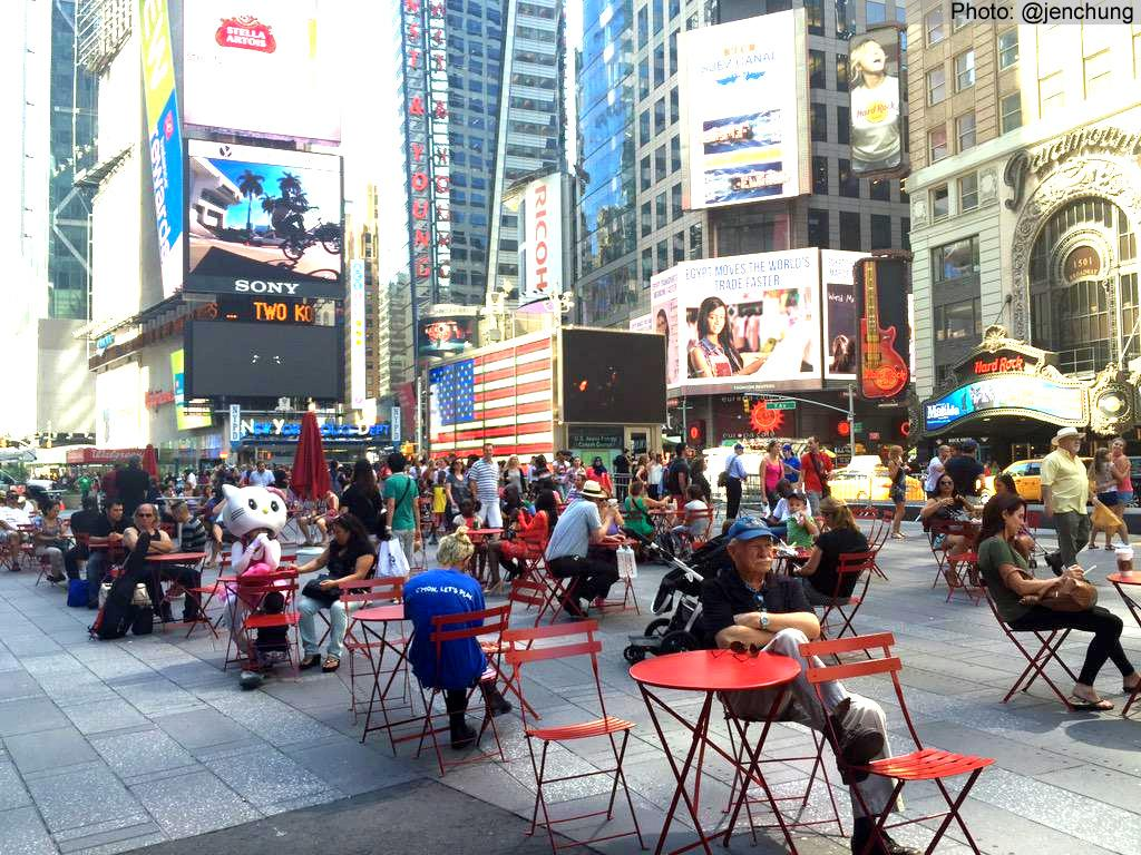 Mayor @BilldeBlasio: Don't Rip Up Our Plazas http://t.co/Cig7dvrKV7 #TimesSquare http://t.co/WqZRkyvI5f