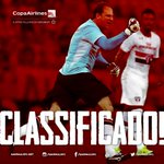 FIIIM DE JOGO!!! E O TRICOLOR ESTÁ CLASSIFICADO! ???????? Na raça, o Tricolor buscou a classificação! #SPFC #CopaDoBrasil http://t.co/ETzRRrYyQU
