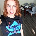 We broke 500! Pick up a shirt at http://t.co/tjK7P2GylZ! All proceeds go to support @STOMPOutBullyng! #neverweird