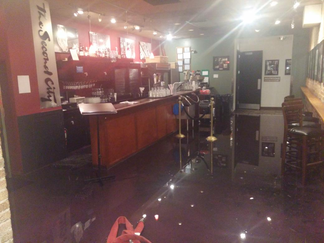 second city theater area in good shape small amount of water  lobby and other areas sustained damage http://t.co/8y9MbZ00nu