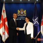welcoming NATO SecGen at the MoD of Georgia. More NATO for Georgia http://t.co/SRPdqXMImm