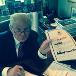 "Behind the scenes picture of my father signing the ""pledge"" --- I am very proud of him! @RealDonaldTrump http://t.co/VD6McLebvD"