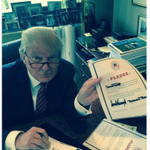 Here is @realDonaldTrump signing the Repub pledge (pic tweeted by his son) http://t.co/Idc2632qBR