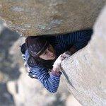 Steph Davis, on off-width crack climbing. http://t.co/9yrUzlS5YG http://t.co/RLqdfps02Z